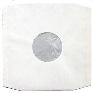 "12"" LP White Polylined Paper Inner Sleeves Pack of 10"